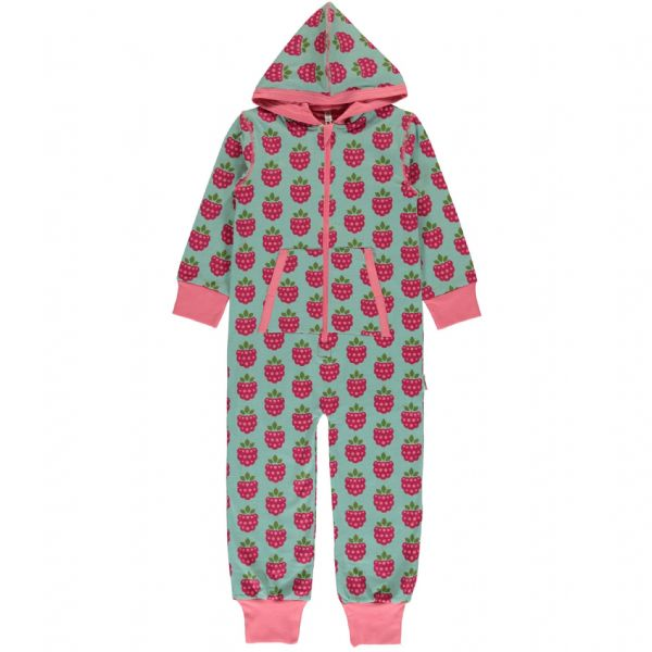 Maxomorra Hooded Onesie Raspberry